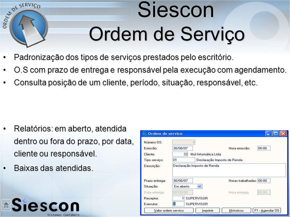 Siescon Ordem de Serviço