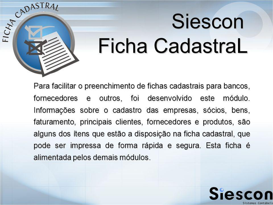 Siescon Ficha CadastraL