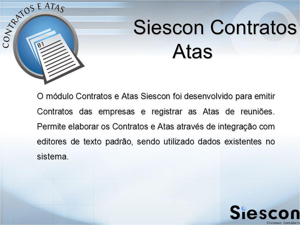 Siescon Contratos e Atas