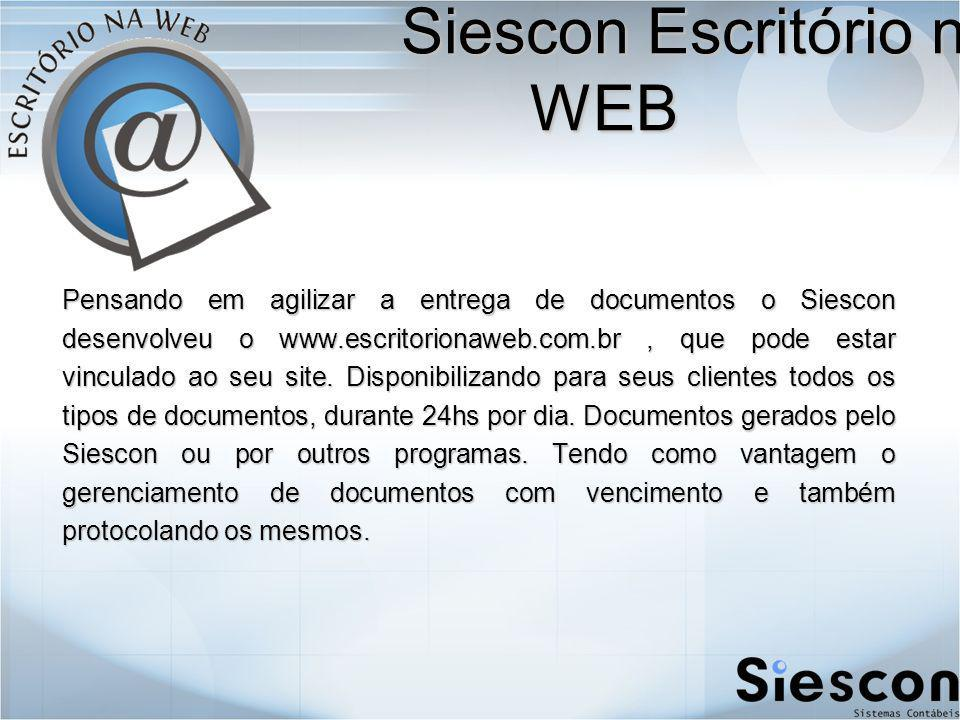 Siescon Escritório na WEB