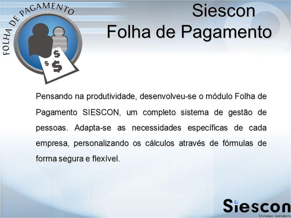 Siescon Folha de Pagamento