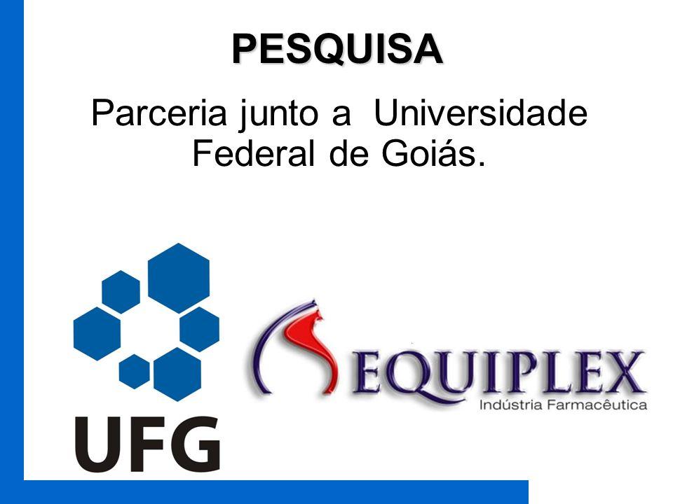 Parceria junto a Universidade Federal de Goiás.