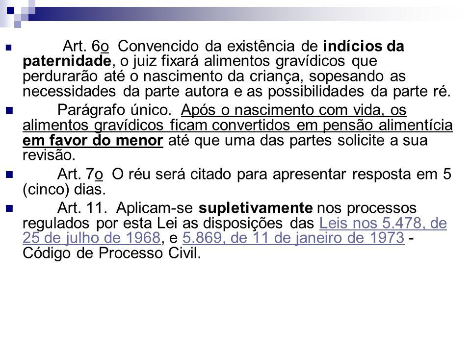 Art. 7o O réu será citado para apresentar resposta em 5 (cinco) dias.