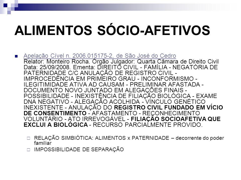 ALIMENTOS SÓCIO-AFETIVOS