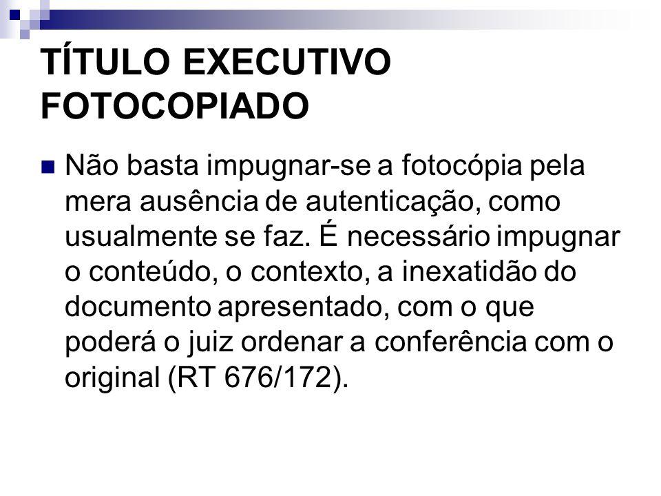 TÍTULO EXECUTIVO FOTOCOPIADO