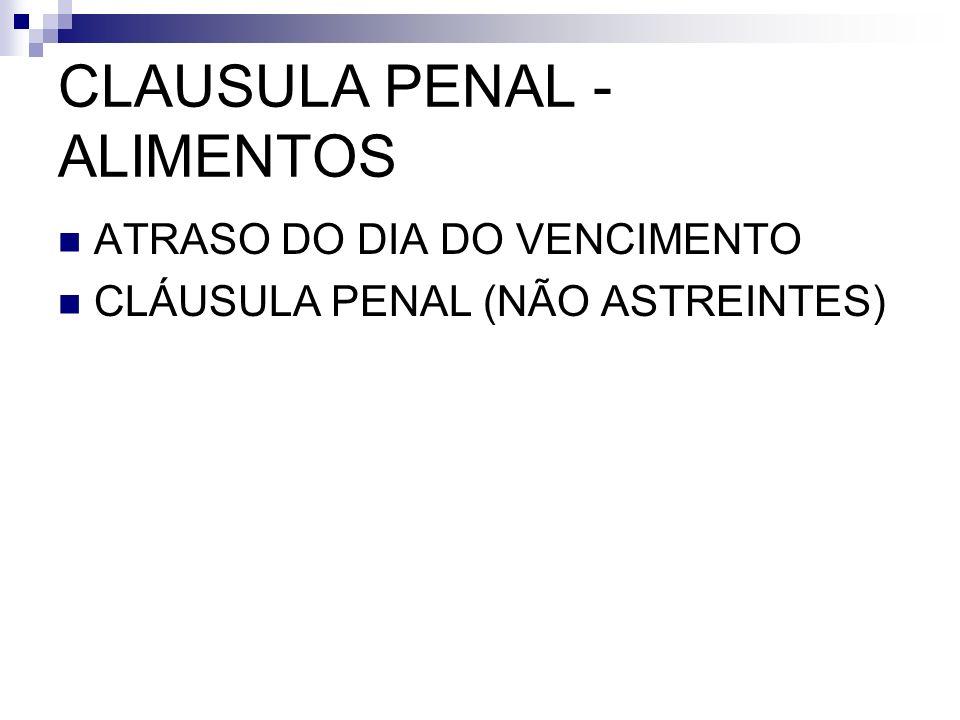 CLAUSULA PENAL - ALIMENTOS