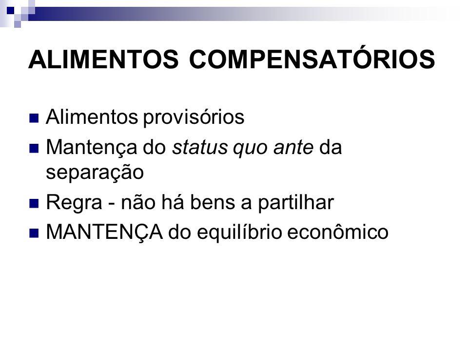 ALIMENTOS COMPENSATÓRIOS
