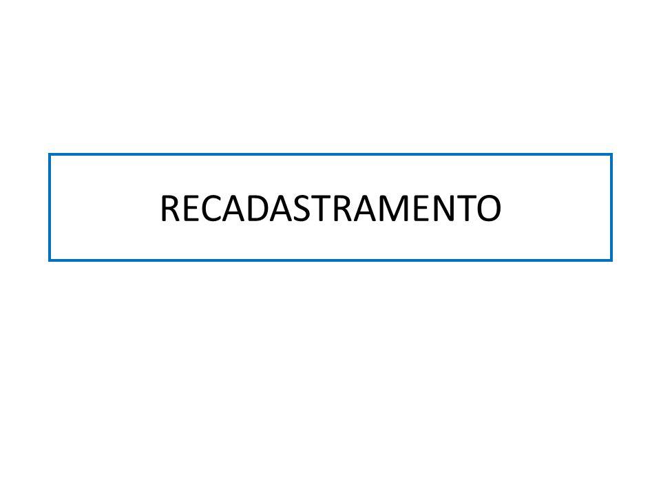 RECADASTRAMENTO