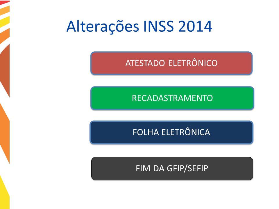 Alterações INSS 2014 ATESTADO ELETRÔNICO RECADASTRAMENTO