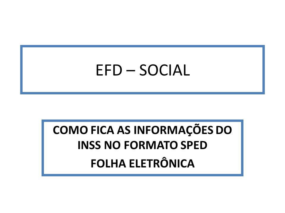 COMO FICA AS INFORMAÇÕES DO INSS NO FORMATO SPED FOLHA ELETRÔNICA