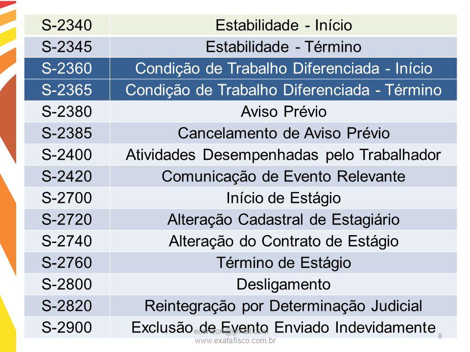 Estabilidade - Término S-2360