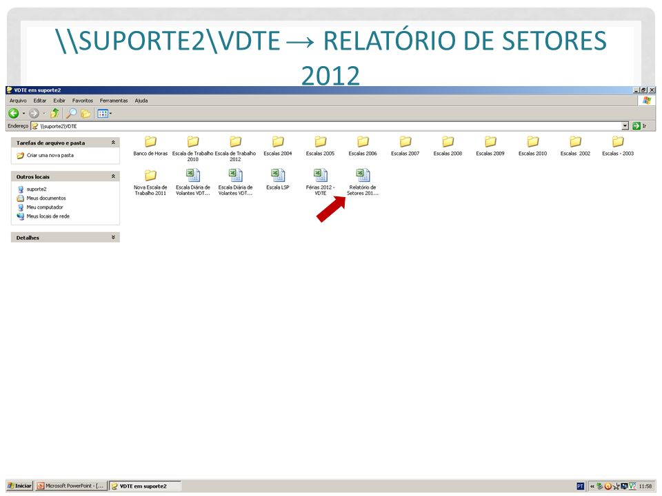 \\suporte2\VDTE → Relatório de Setores 2012