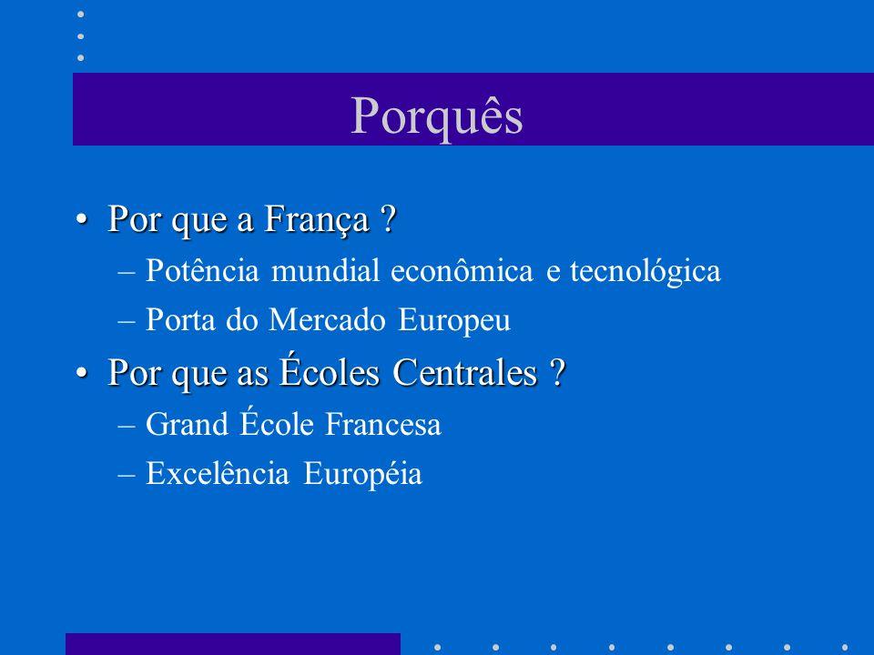 Porquês Por que a França Por que as Écoles Centrales