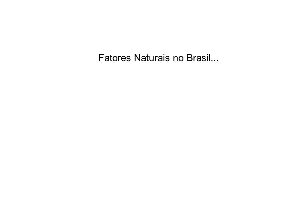 Fatores Naturais no Brasil...