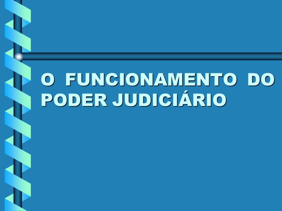O FUNCIONAMENTO DO PODER JUDICIÁRIO