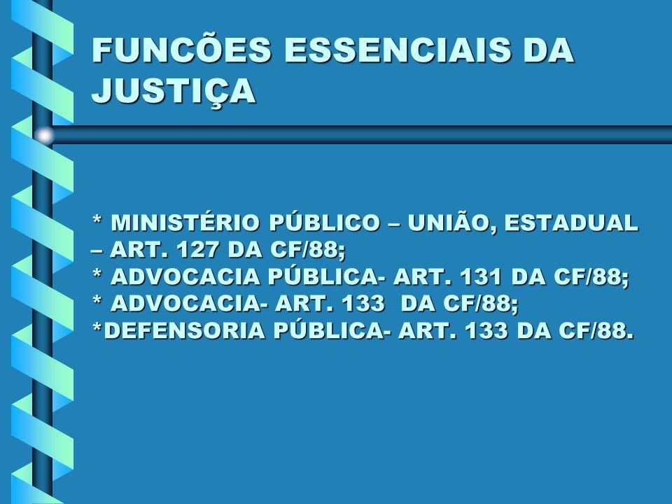 FUNCÕES ESSENCIAIS DA JUSTIÇA