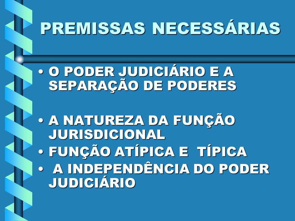 PREMISSAS NECESSÁRIAS