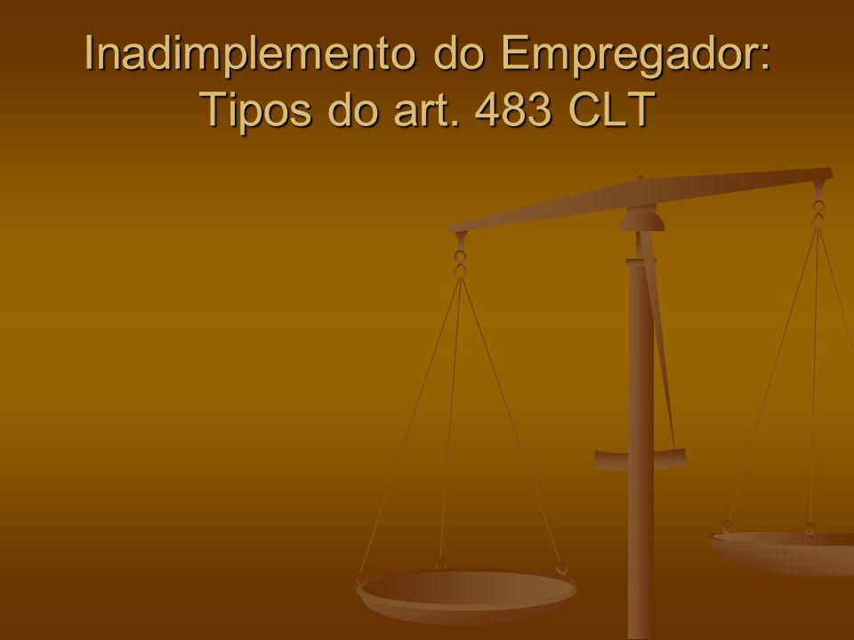 Inadimplemento do Empregador: Tipos do art. 483 CLT