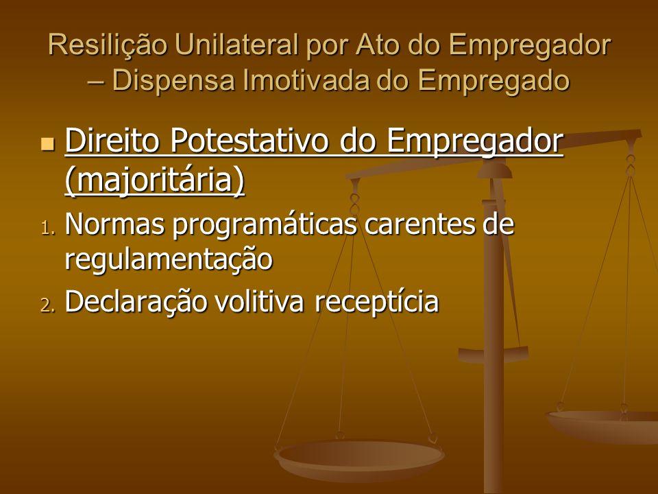 Direito Potestativo do Empregador (majoritária)