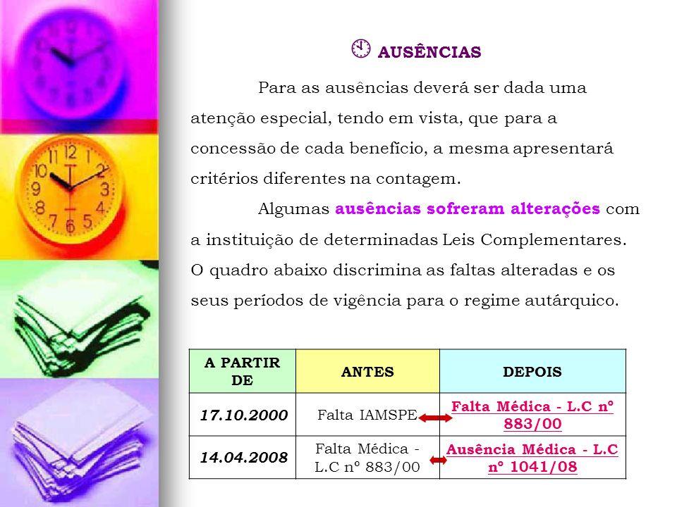 Ausência Médica - L.C nº 1041/08
