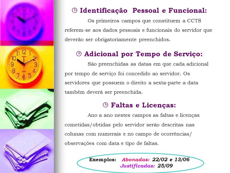  Identificação Pessoal e Funcional: