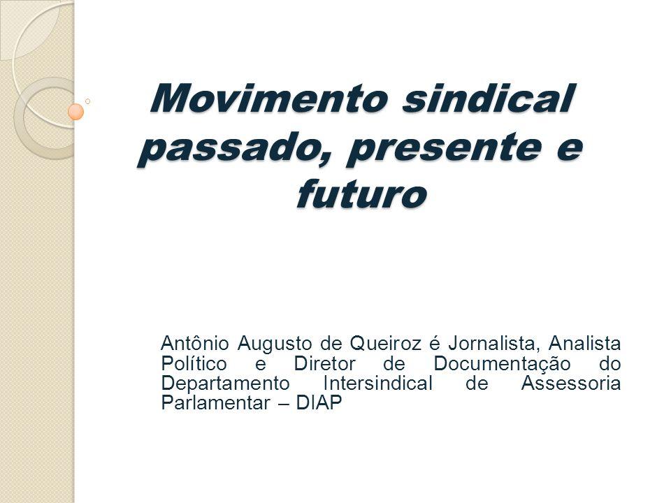 Movimento sindical passado, presente e futuro