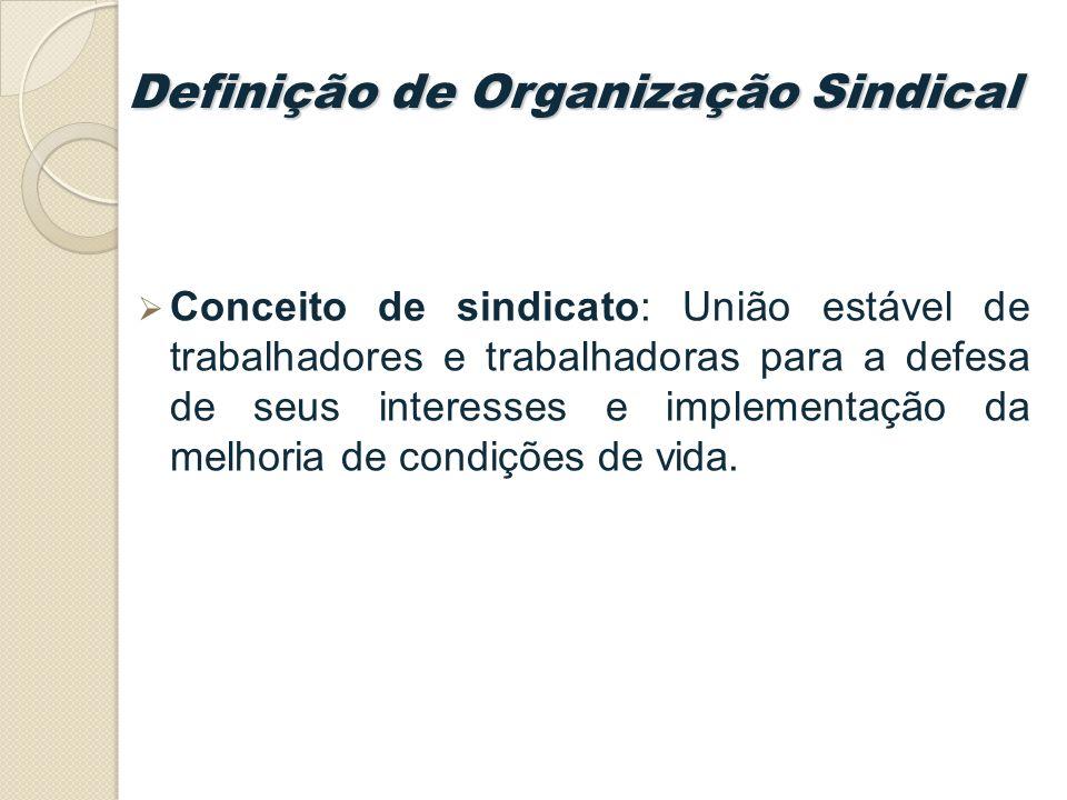 Definição de Organização Sindical