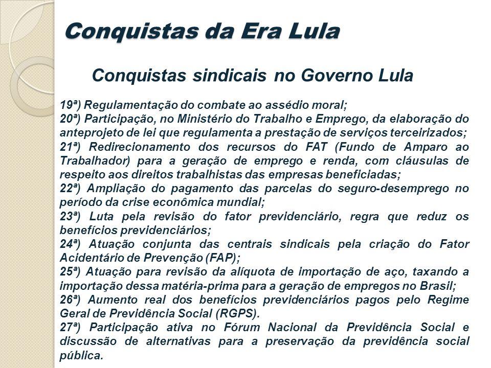 Conquistas sindicais no Governo Lula