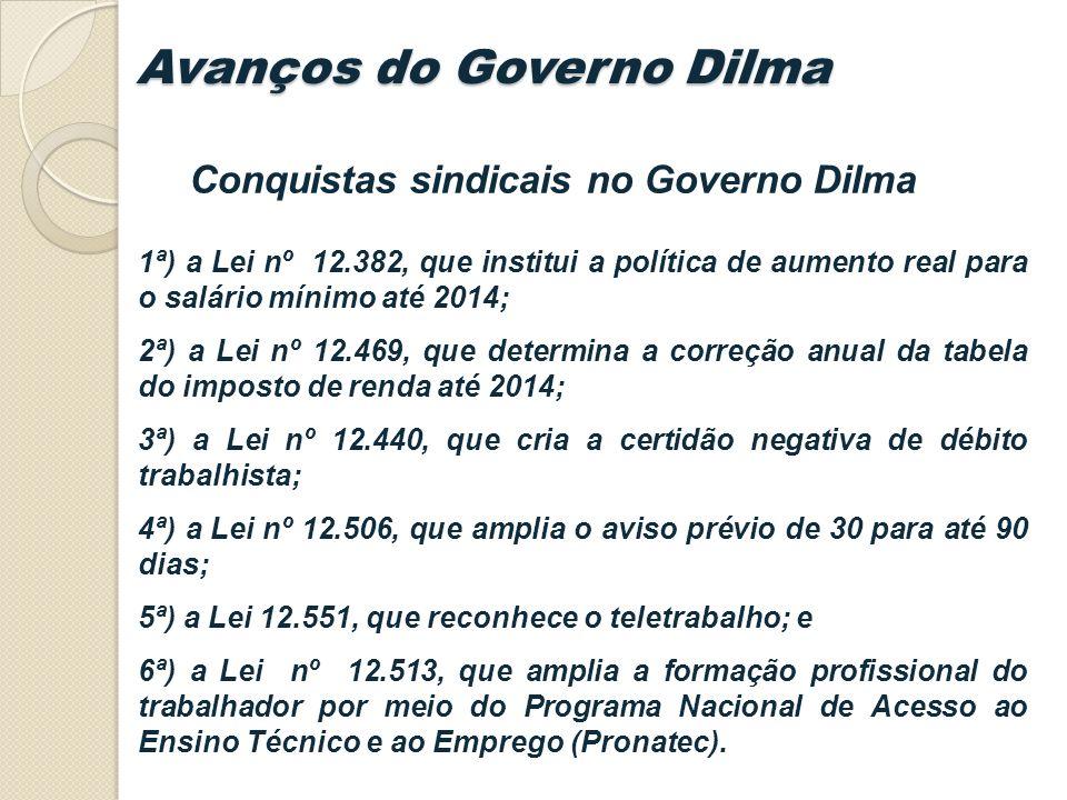 Avanços do Governo Dilma