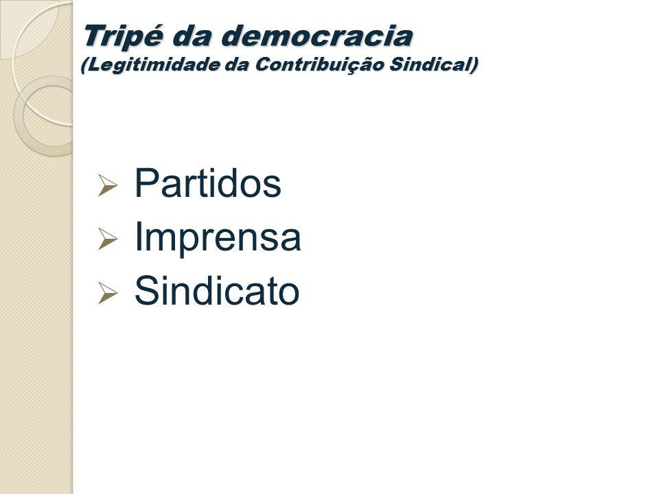 Tripé da democracia (Legitimidade da Contribuição Sindical)