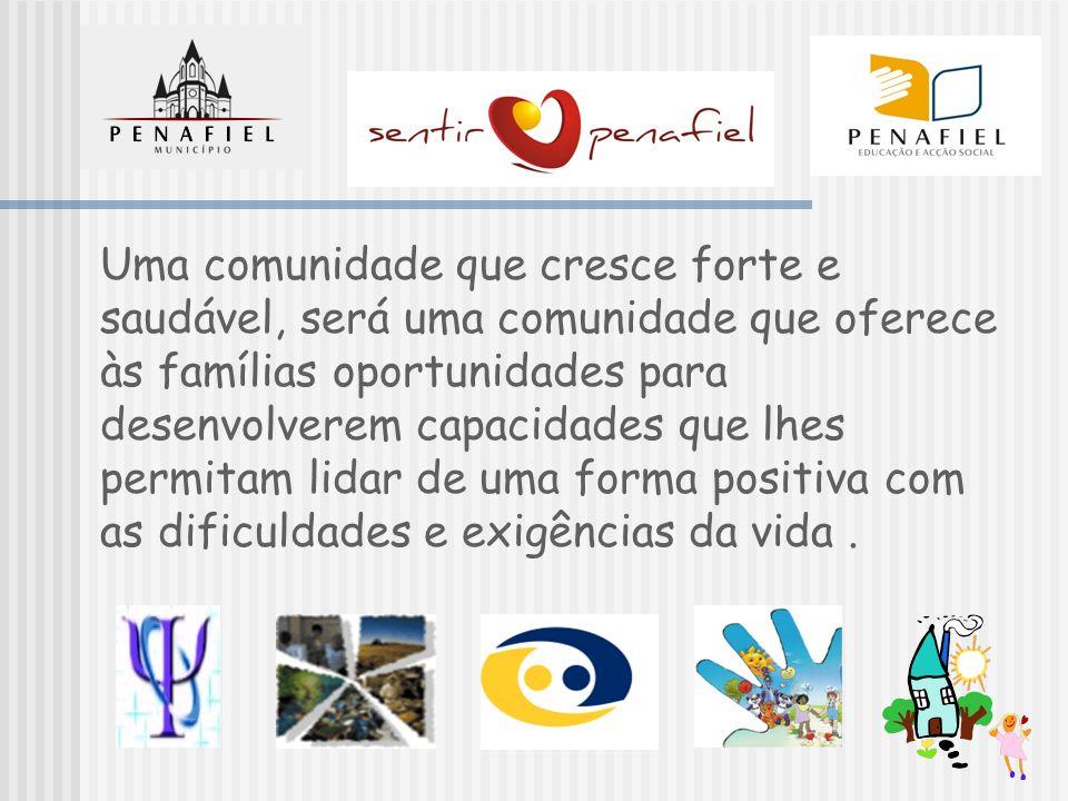 Uma comunidade que cresce forte e saudável, será uma comunidade que oferece às famílias oportunidades para desenvolverem capacidades que lhes permitam lidar de uma forma positiva com as dificuldades e exigências da vida .
