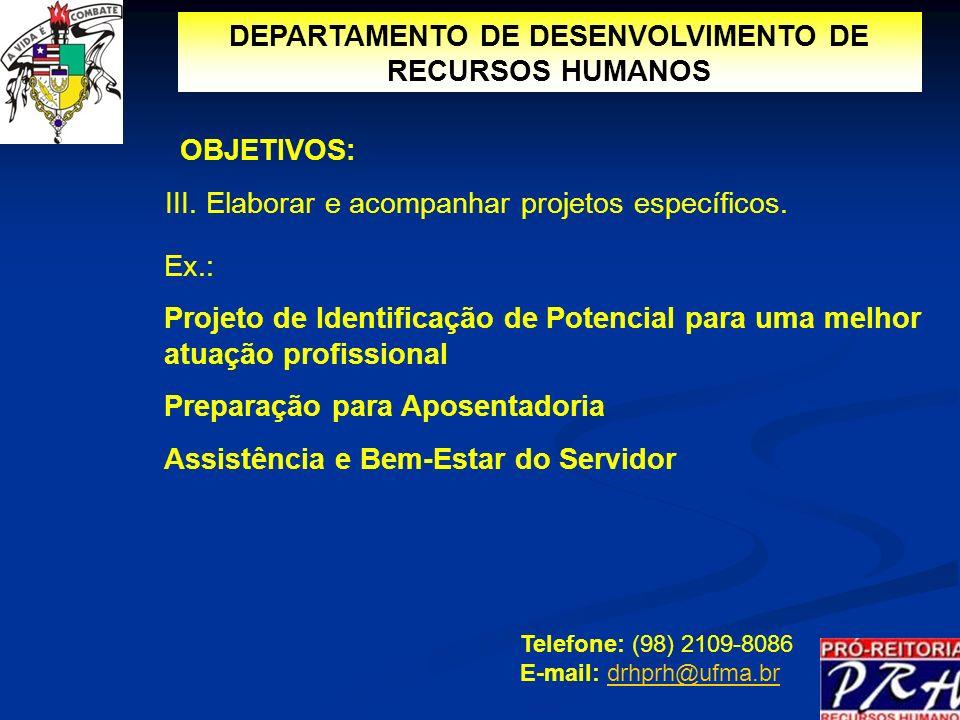 DEPARTAMENTO DE DESENVOLVIMENTO DE RECURSOS HUMANOS
