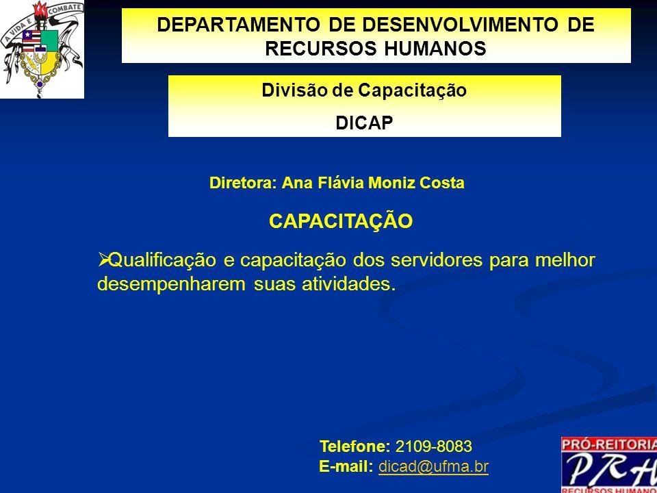 DEPARTAMENTO DE DESENVOLVIMENTO DE RECURSOS HUMANOS CAPACITAÇÃO