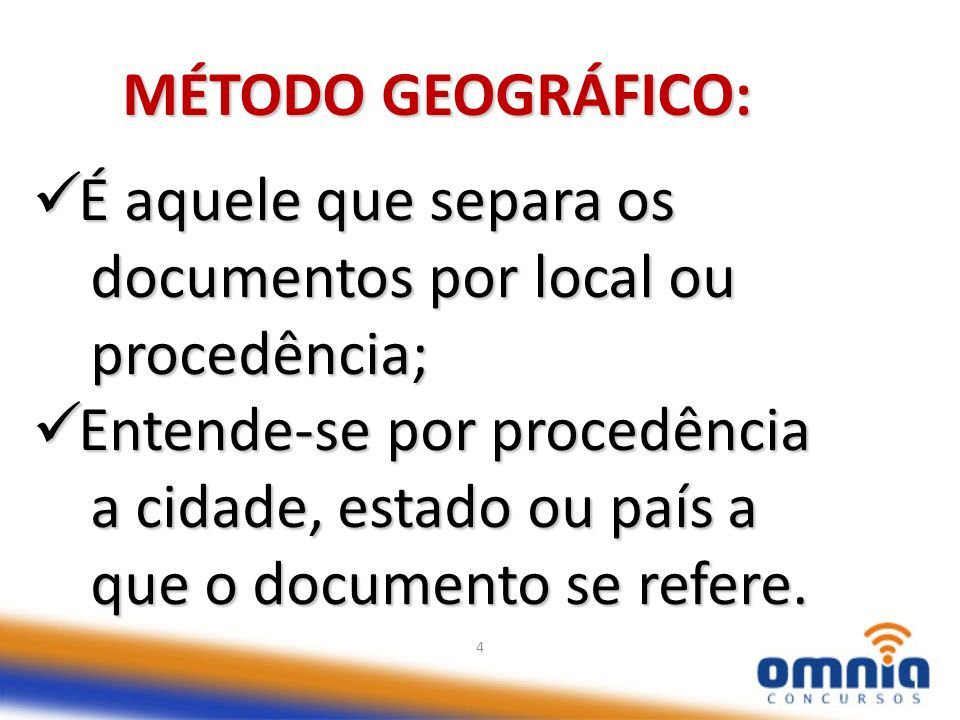 documentos por local ou procedência; Entende-se por procedência