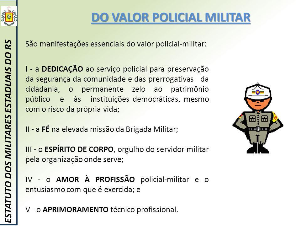 DO VALOR POLICIAL MILITAR