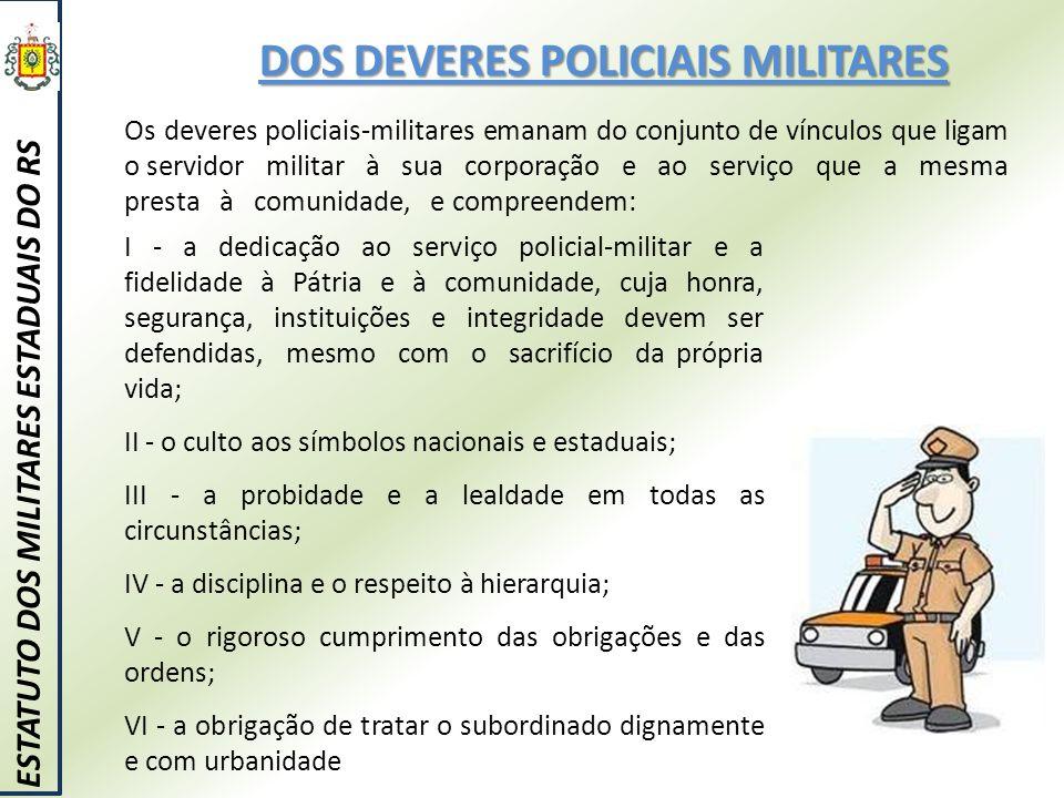 DOS DEVERES POLICIAIS MILITARES