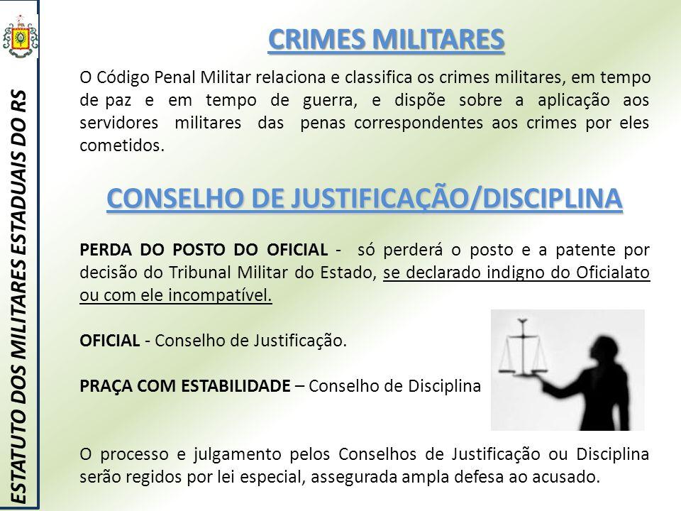 CONSELHO DE JUSTIFICAÇÃO/DISCIPLINA