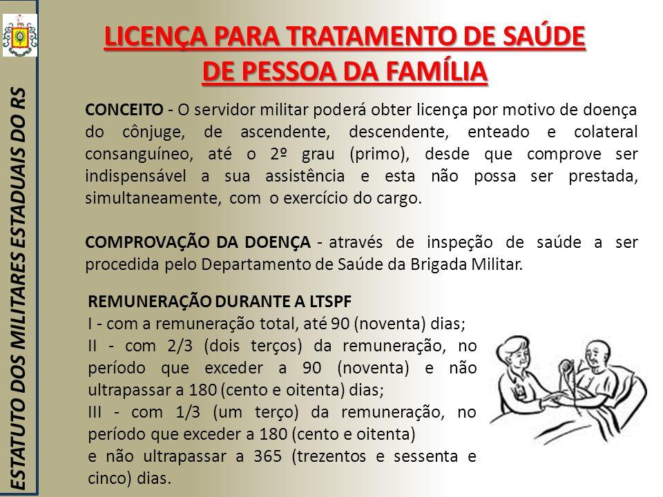 LICENÇA PARA TRATAMENTO DE SAÚDE DE PESSOA DA FAMÍLIA