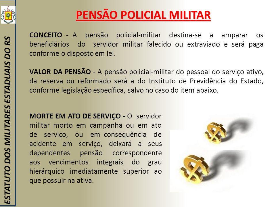 PENSÃO POLICIAL MILITAR