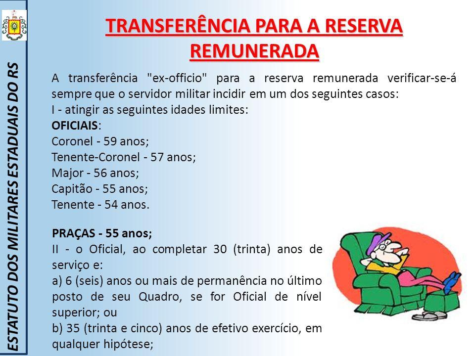 TRANSFERÊNCIA PARA A RESERVA REMUNERADA