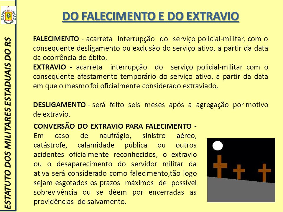 DO FALECIMENTO E DO EXTRAVIO