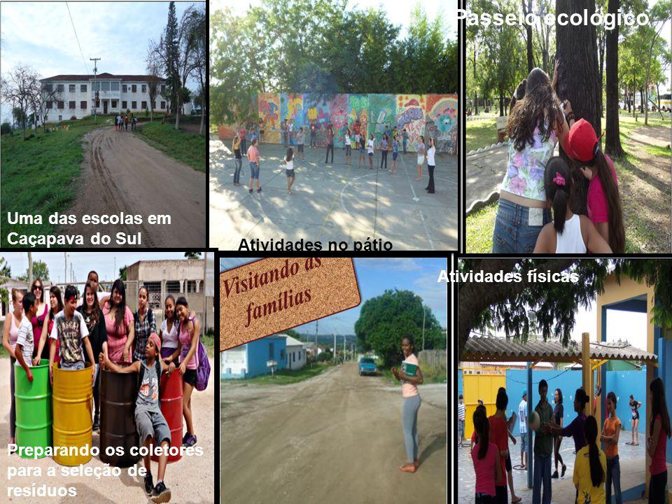 Passeio ecológico Uma das escolas em Caçapava do Sul