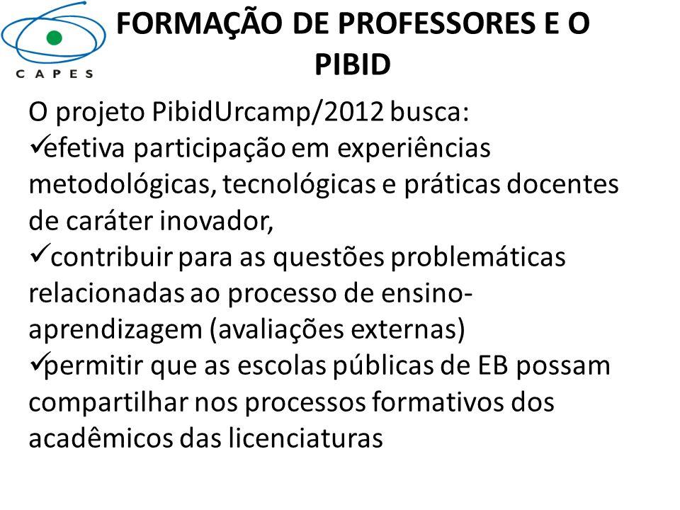 FORMAÇÃO DE PROFESSORES E O PIBID