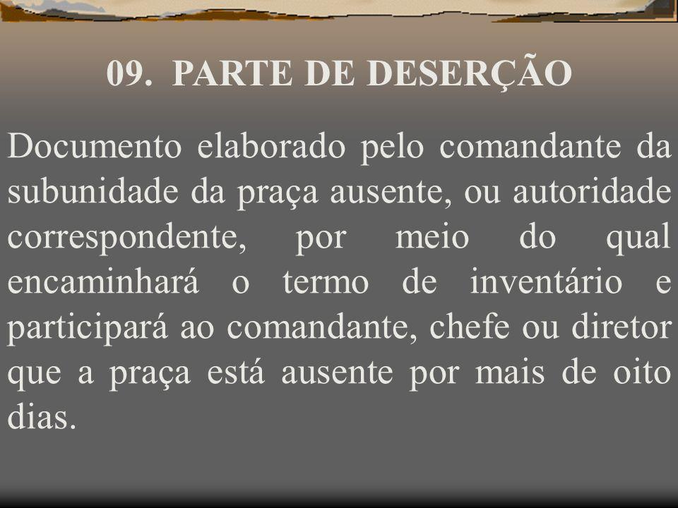09. PARTE DE DESERÇÃO
