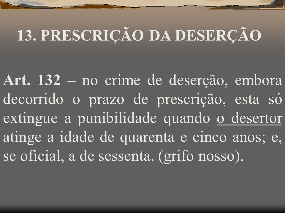 13. PRESCRIÇÃO DA DESERÇÃO