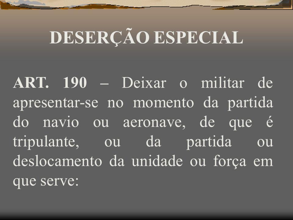 DESERÇÃO ESPECIAL