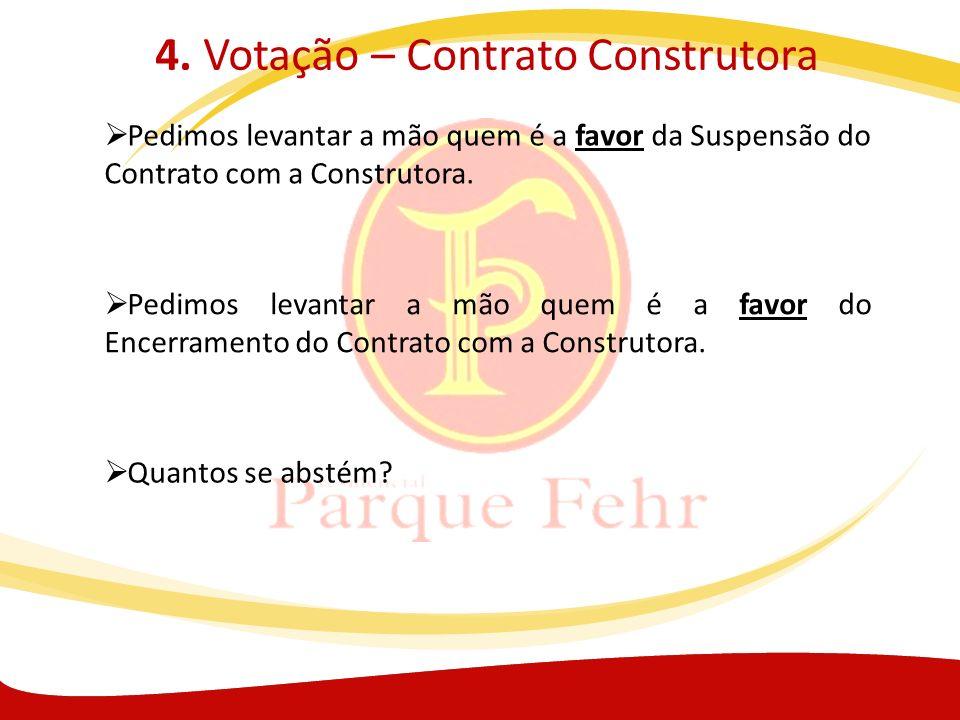 4. Votação – Contrato Construtora