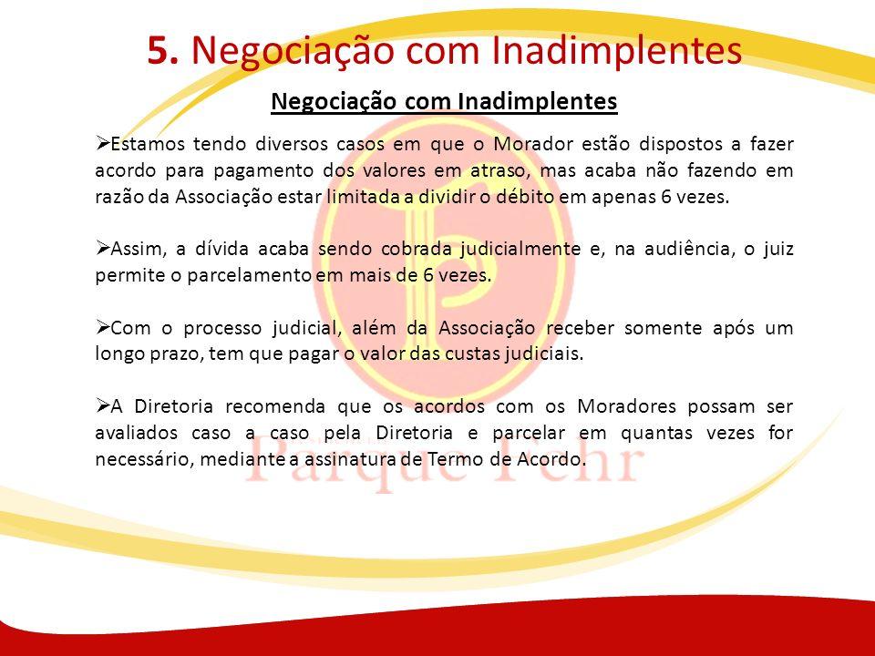 5. Negociação com Inadimplentes