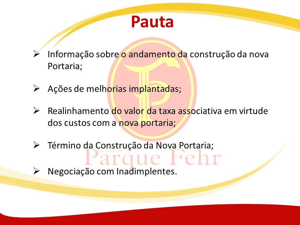 Pauta Informação sobre o andamento da construção da nova Portaria;