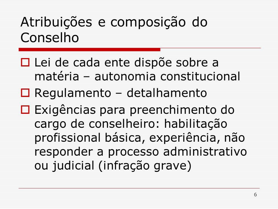 Atribuições e composição do Conselho